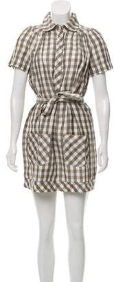 See by Chloe Linen Gingham Dress