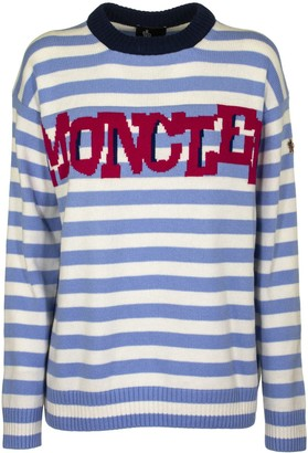 Moncler Crew Neck Knit Sweater Wool And Cashmere