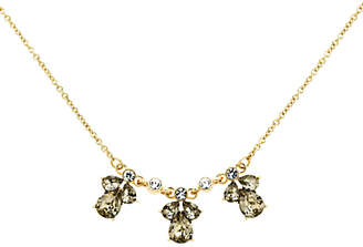 Monet Glass Crystal Chain Necklace, Gold/Multi
