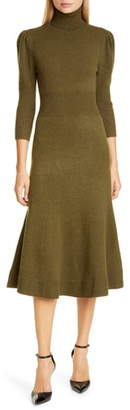 Michael Kors Puff Sleeve Cashmere Sweater Dress