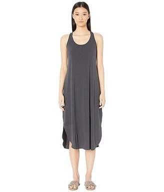 Eileen Fisher Scoop Neck Racerback Calf Length Dress