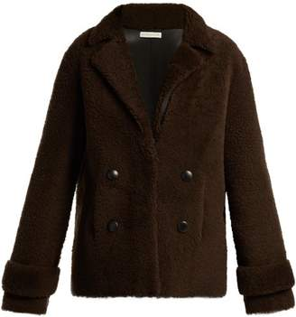 Inès & Marèchal Dorota Shearling Jacket - Womens - Dark Brown