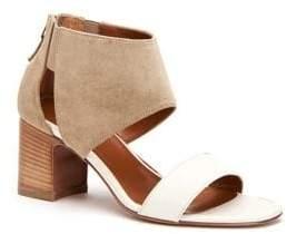 Aquatalia Enid Leather and Suede Sandals