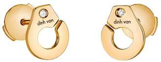 Dinh Van Menottes R7.5 Diamond Stud Earrings - Yellow Gold