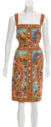 Dolce & Gabbana Sicilian Print Midi Dress