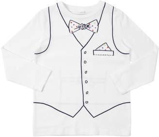 Stella McCartney Long Sleeve Vest Print Jersey T-Shirt