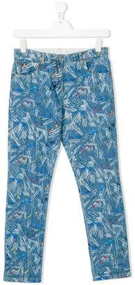 Stella McCartney Scribble and Skate pattern jeans