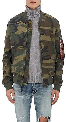 Alpha Industries Men's Woodland Reversible Tech-Twill & Canvas Bomber Jacket
