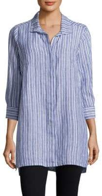 Foxcroft Striped Button-Front Shirt