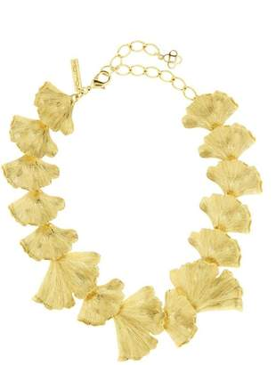 Oscar de la Renta Ginkgo Leaf Necklace