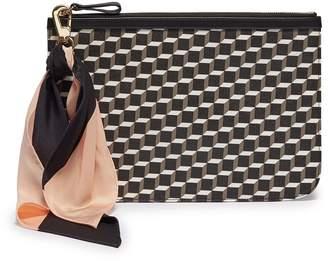 Pierre Hardy  Cube Perspective  print detachable sash tie large pouch f1fec8d1a0bd8