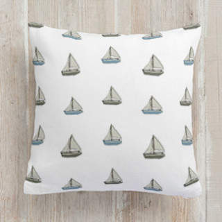 Toy boats Square Pillow