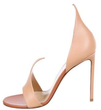 Francesco Russo Flame Leather Sandals Nude Flame Leather Sandals