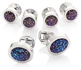 Saks Fifth Avenue COLLECTION Crushed Stone Cufflink Set