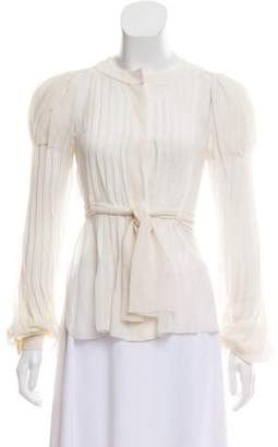 Chanel Pleated Silk Top