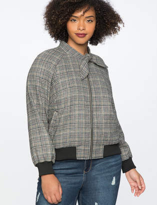 Ascot Plaid Bomber Jacket