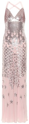 Temperley London Starlet sequined chiffon gown