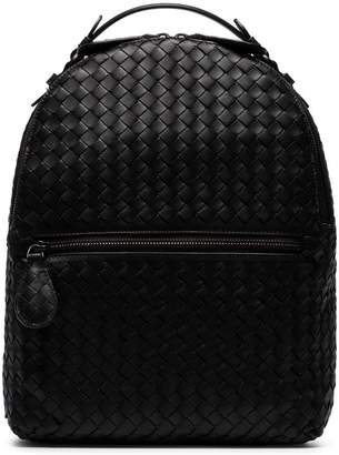 Bottega Veneta black intrecciato leather backpack 8d62031538094