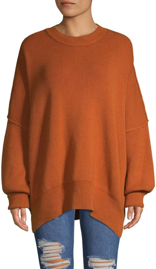 Free People Ribbed Mockneck Sweater