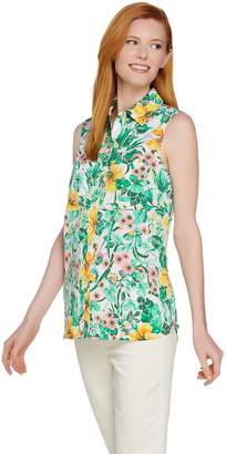 "C. Wonder Tropical Floral Print Sleeveless ""Carrie"" Blouse"