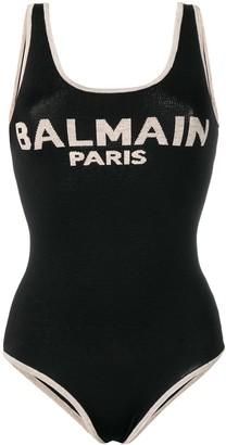 Balmain logo knitted bodysuit