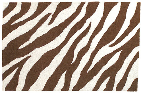 Chocolate Zebra Rug