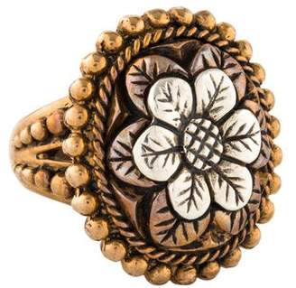 Stephen Dweck Two-Tone Floral Cocktail Ring