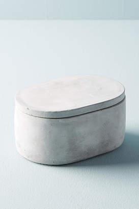 Anthropologie Sedra Cement Bathroom Canister