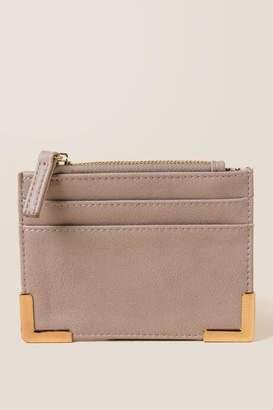 francesca's Alexis Wallet Card Case - Taupe
