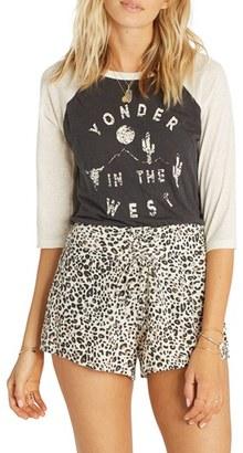 Billabong Sunny Eyes Leopard Print High Waist Shorts $44.95 thestylecure.com