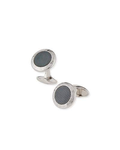 Alfred Dunhilldunhill AD Coin Cuff Links with Mother-of-Pearl Insets