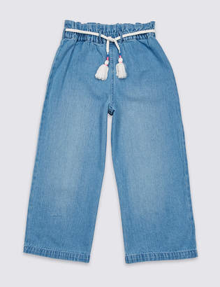Marks and Spencer Denim Paper Bag Waist Culottes (3-16 Years)