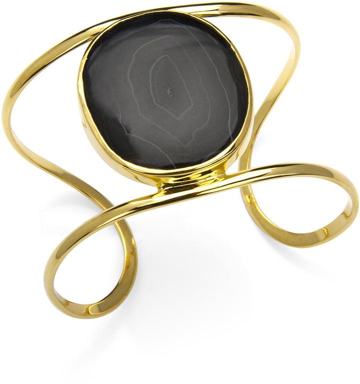 Isharya Single Druzy Wire Cuff, Black
