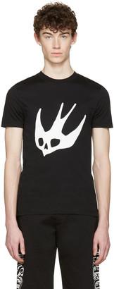 McQ Alexander McQueen Black Swallow T-Shirt $155 thestylecure.com