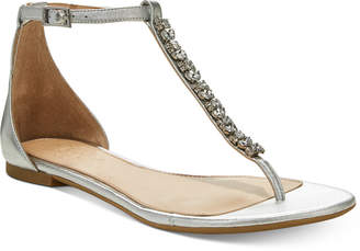 Badgley Mischka Gaby Flat Evening Sandals, Created for Macy's Women's Shoes