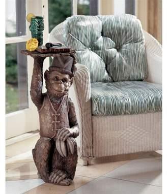 Toscano Design Moroccan Monkey Butler Pedestal Sculptural Table