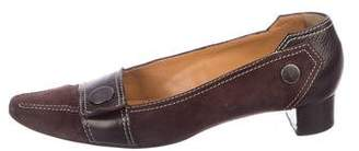 Tod's Leather Low-Heel Pumps