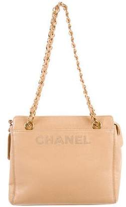 Chanel Caviar Logo Shoulder Bag