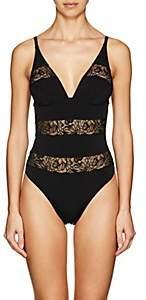 Fleur Du Mal Women's Lace-Inset Bodysuit - Black