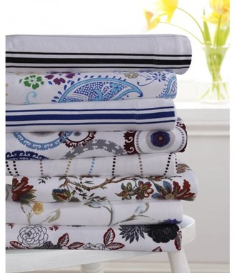 Tribeca Living Flannel 170-GSM Floral Garden Printed Extra Deep Pocket Sheet Set - Queen