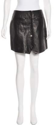 Rachel Zoe Leather A-Line Skirt