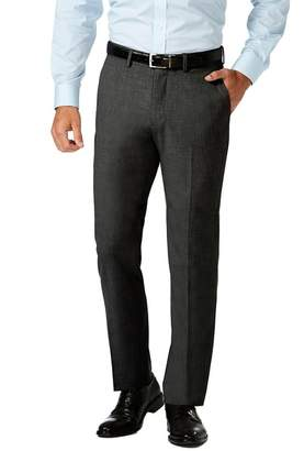 "Haggar Gabardine 4-Way Stretch Slim Fit Flat Front Dress Pants - 29-34"" Inseam"