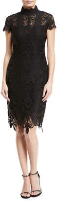 Jovani Embellished Lace Sheath Dress