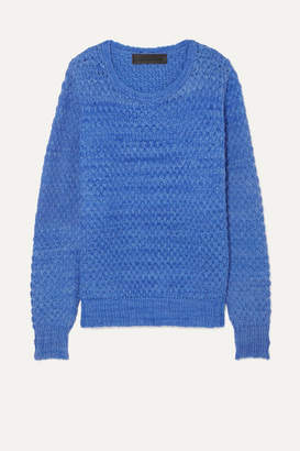 The Elder Statesman Waffle-knit Cashmere Sweater - Lilac