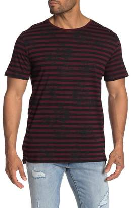 Jack and Jones Short Sleeve Floral Stripe Tee