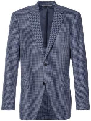 Canali grid check jacket