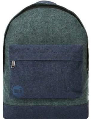 Mi-Pac Backpack - Herringbone Mix Green/navy One Size