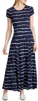 Lauren Ralph Lauren Striped Cotton Blend T-Shirt Dress