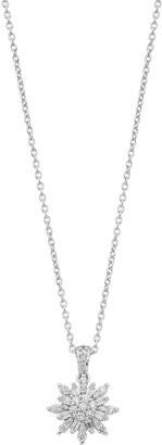 Vera Wang Simply Vera Sterling Silver 1/3 Carat T.W. Diamond Snowflake Pendant