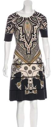 Etro Wool Short Sleeve Dress